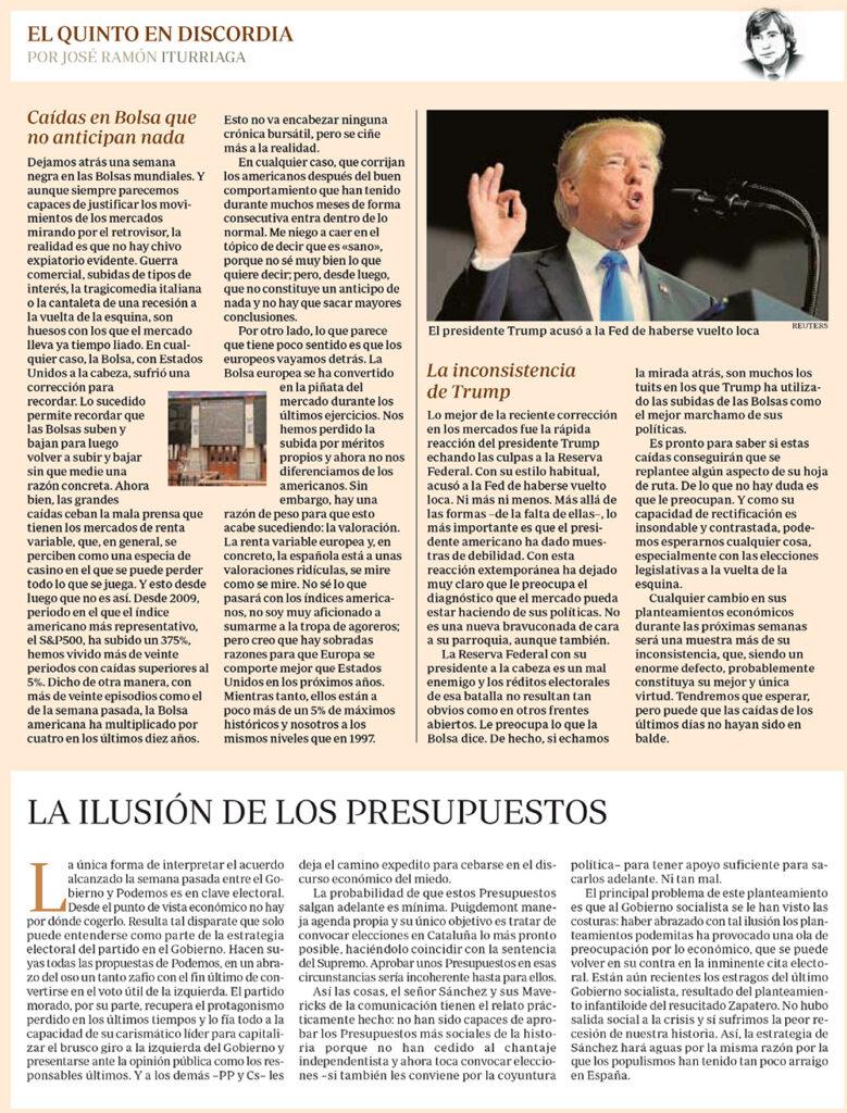 ABC CAÍDAS BOLSAS TRUMP Y PRESUPUESTOS