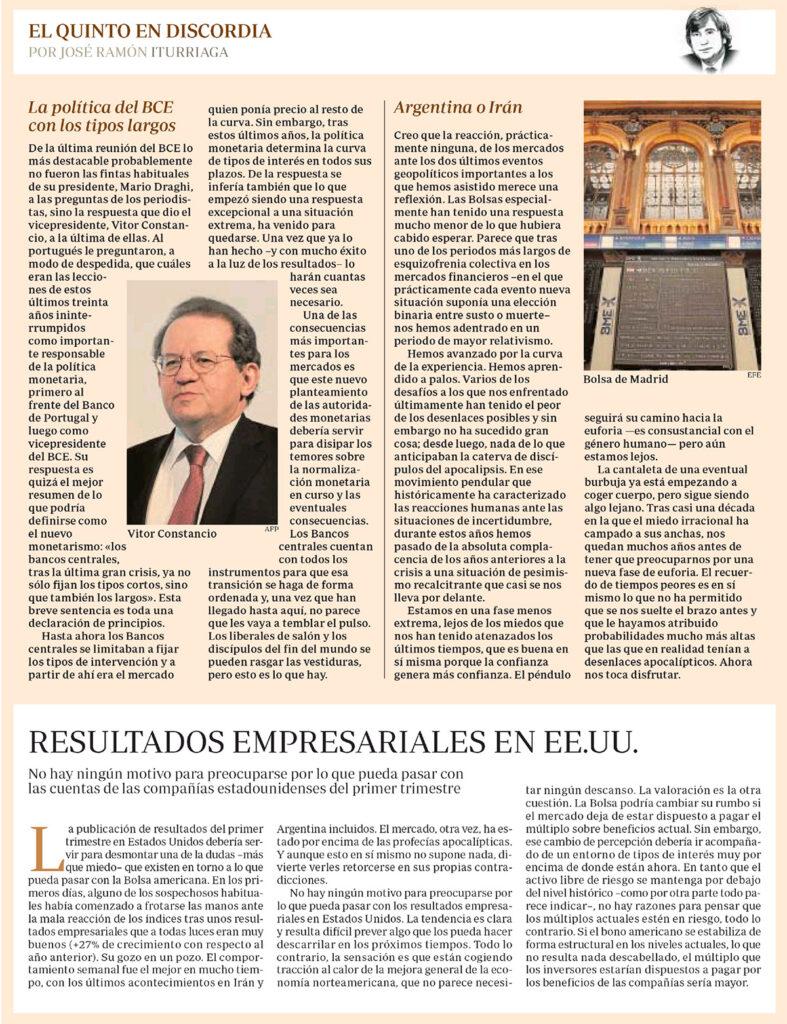 ABC EQED ITURRIAGA BCE ARGENTINA O IRÁN RESULTADOS EEUU
