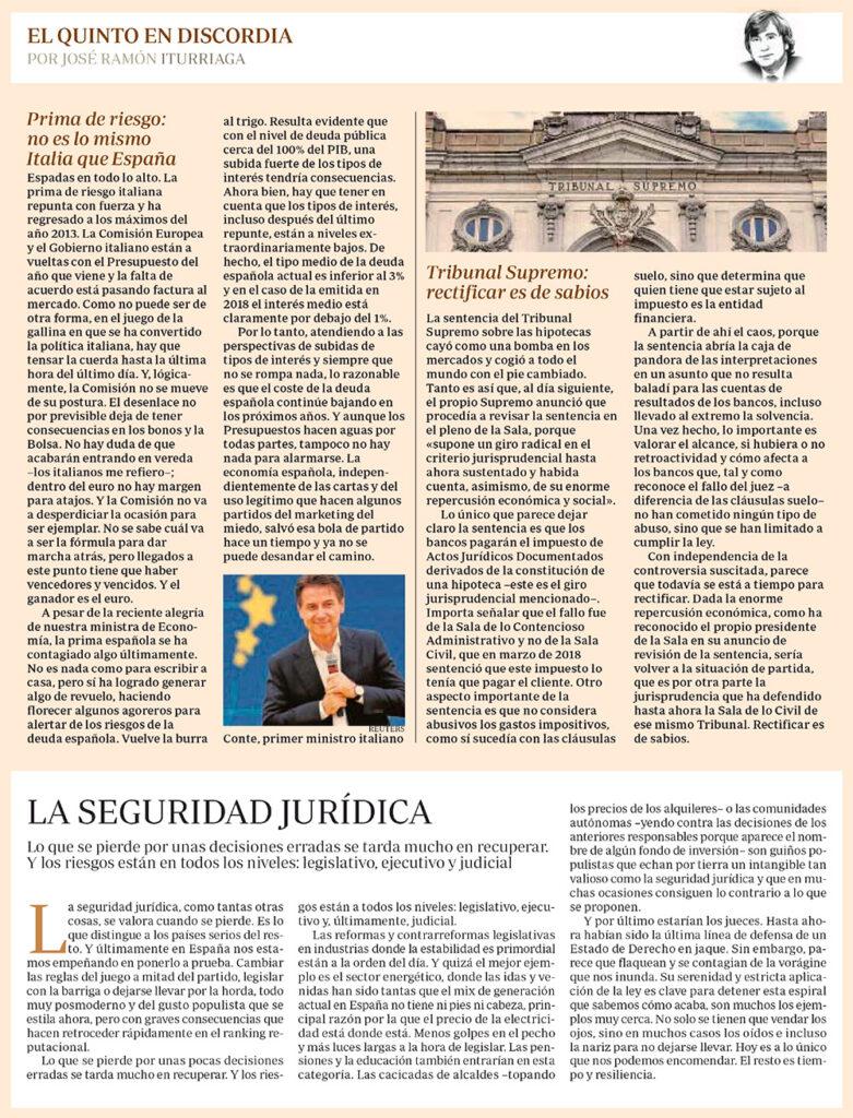 ABC EQED PRIMA DE RIESGO SUPREMO SEGURIDAD JURÍDICA