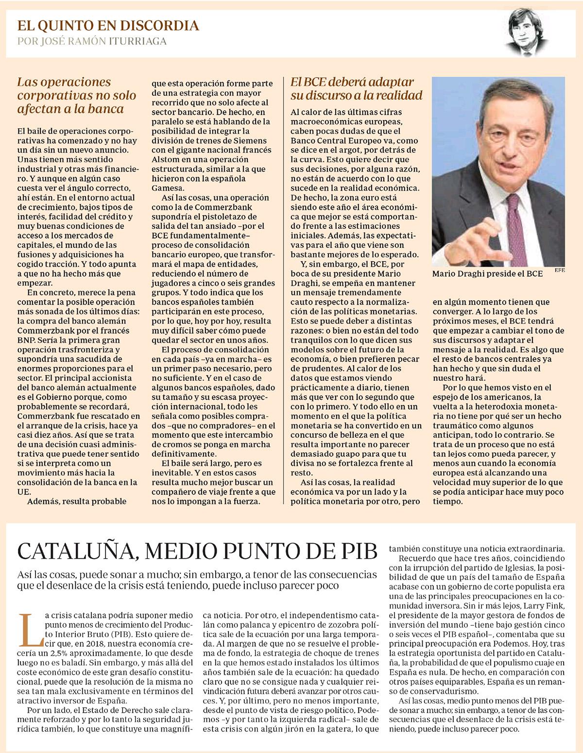 ABC Ituriaga EQED operaciones, BCE y Cataluña