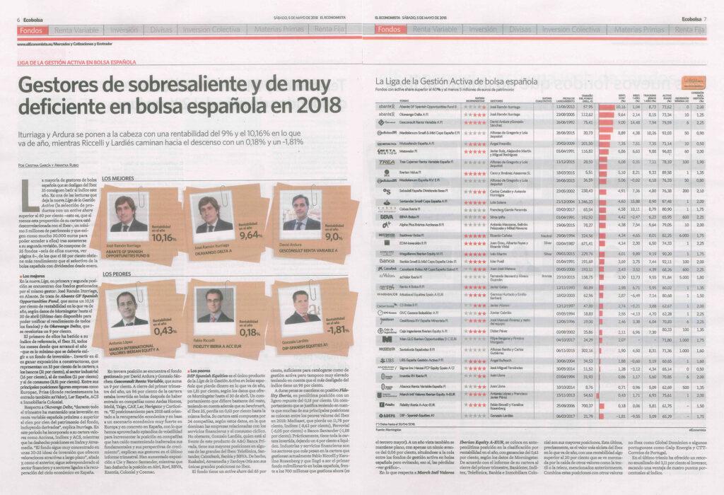 EL ECONOMISTA LIGA DE GESTIÓN ACTIVA EN BOLSA ESPAÑOLA