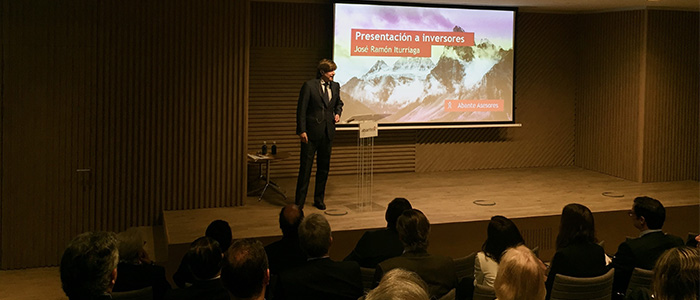 Iturriaga, conferencia con inversores institucionales